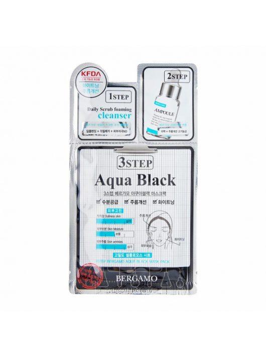 BERGAMO Aqua 3 lépéses multifunkcionális hidratáló maszk - fekete