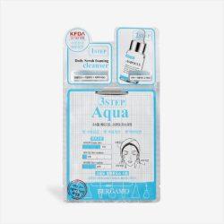 BERGAMO Aqua 3 lépéses hyaluronsavas, hidratáló maszk - fehér