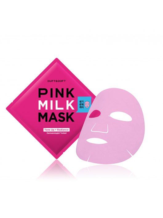 DUFT & DOFT Pink Milk díjnyertes feszesítő, ránctalanító és bőrszínkiegyenlítő maszk