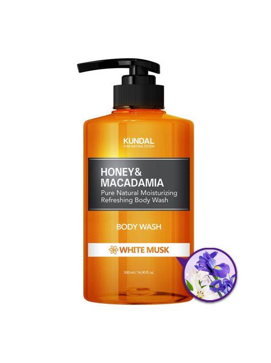KUNDAL Honey&Macadamia Fehér Pézsma tusfürdő 500 ml