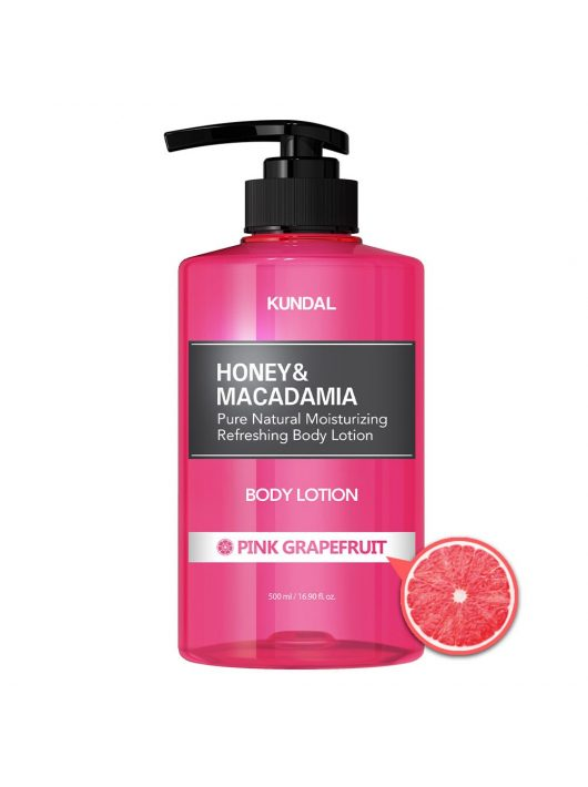 KUNDAL Honey&Macadamia Pink Grapefruit testápoló lotion 82 % aloe verával 500 ml