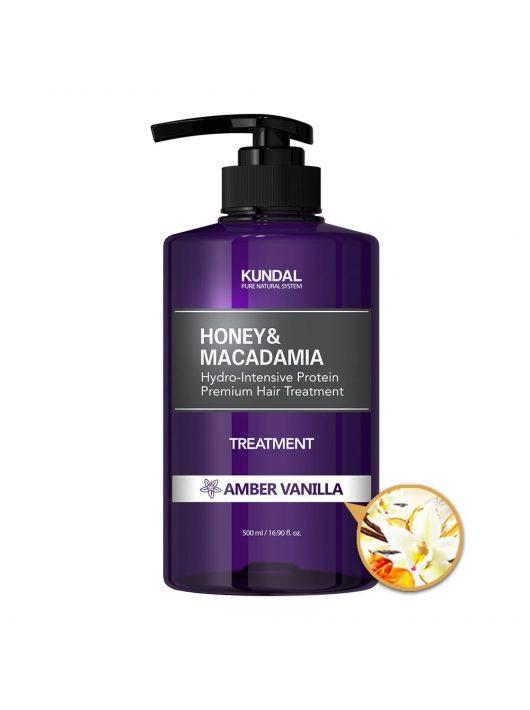 KUNDAL Honey&Macadamia Amber Vanilla intenzív proteines hajbalzsam 500 ml