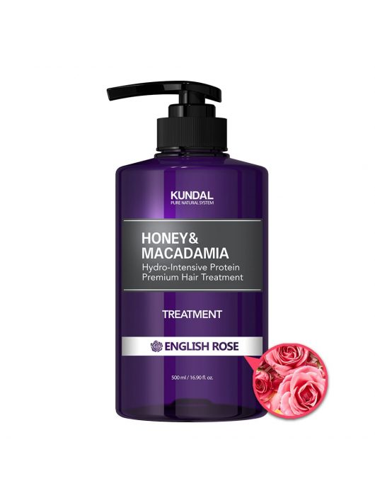 KUNDAL Honey&Macadamia Angol Rózsa intenzív proteines hajbalzsam 500 ml
