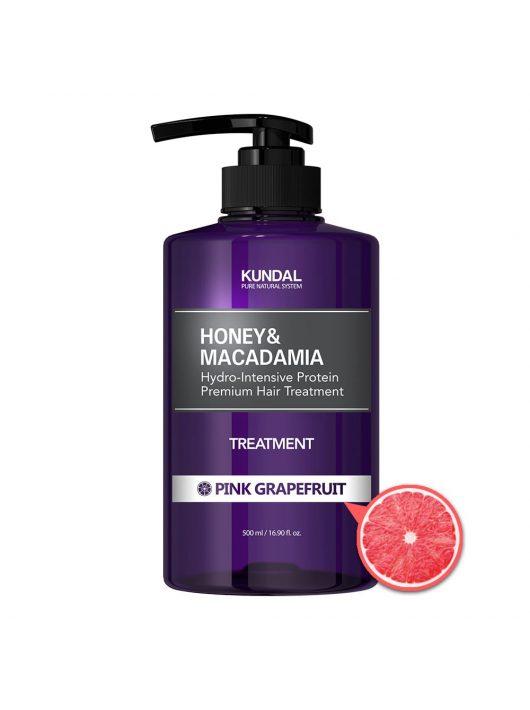 KUNDAL Honey&Macadamia Pink Grapefruit intenzív proteines hajbalzsam 500 ml