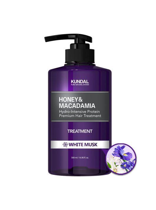 KUNDAL Honey&Macadamia Fehér Pézsma intenzív proteines hajbalzsam 500 ml