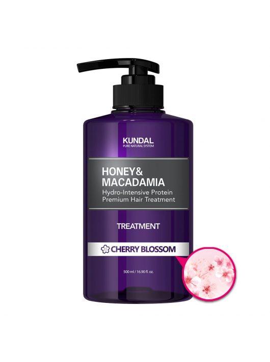 KUNDAL Honey&Macadamia Cseresznyevirág intenzív proteines hajbalzsam 500 ml