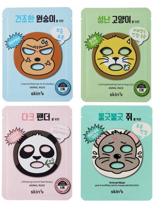 SKIN79 Animal 4 darabos maszk csomag