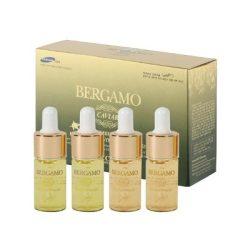 BERGAMO nagy hatóanyagtartalmú kaviár - vitamin komplex öregedésgátló szérum szett - 4 x 13 ml