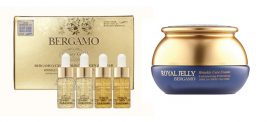 Bergamo Royal Jelly öregedésgátló krém + BERGAMO Luxury Gold kollagén szérum tiszta arany kivonattal