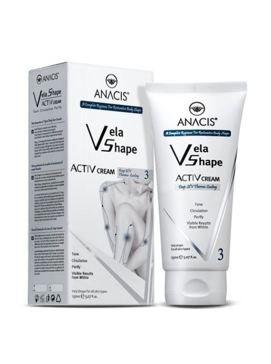 ANACIS Vela Shape ActiV testfeszesítő krém szabadalmaztatott nyirokkeringést serkentő funkcióval